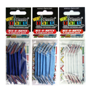 U-Lace Shoe Laces multi-coloured Blanc, Bleu Roi, Bleu Ciel.