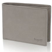 bugatti Gents Wallet Men Purse Landscape Leather 125cm Zipper Folding Compartment elefant grey