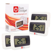 *Quad-Pack* Indoor LCD Room Temperature Thermometer/Gauge With Stand And Digital Display - Perfect For Use In The Office Or At Home - by DURAGADGET