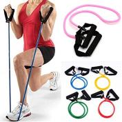 Resistance Exercise Band Elastic Stretch Gym Rope Yoga Pilates Fitness by GokuStore
