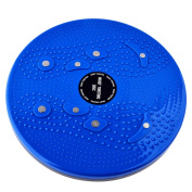 Waist Twisting Disc, PeleusTech Waist Twisting Disc Ankle Body Aerobic Exercise Figure Trimmer Magnet Balance Rotating Board - Blue