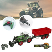 Bid Buy Direct® Remote Controlled Tractor with Hanger 1:28 Channel Radio Control 8 Channels Fully Functional RC Farm Tractor   Tipping Trailer, Front Loader and Hanger   Perfect Gift Set