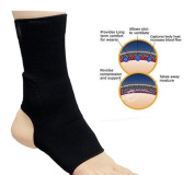 RAD ELASTICATED NEOPRENE ANKLE FOOT BRACE SUPPORT PAIN INJURY RELIEF LEG & FOOT BLACK