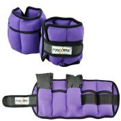 MaxxMMA 2.3kg Adjustable Neoprene Ankle Weights Pair, 2.3kg each