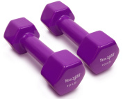 Yes4all Deluxe Vinyl Coated Dumbbells (Sold in Pair) - Multi Weight Size & Colour Available