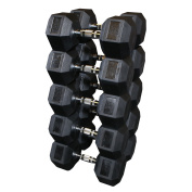 Body Solid Rubber Hex Dumbbell Set