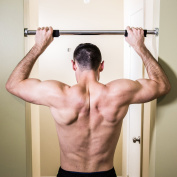 j/fit Deluxe Doorway Pull-Up Bar with Comfort Grips - LONGEST LENGTH Pull Up BAR AVAILABLE 100cm WIDE.