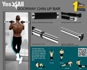 "Yes4All Doorway Pullup Bar / Chinup Bar – Fit Doorways 24"" - 34"" & Support up to 90kg"