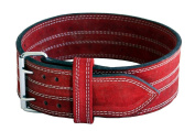 Ader Leather Power Lifting Weight Belt- 10cm Red