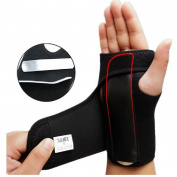 Kagogo Detachable Steel Splint Wrist Sprain Support Sports Brace Protector- One Size Fits All, Black