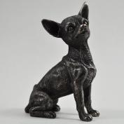 Chihuahua Large Cold Cast Bronze Statue Sculpture Pets Dog Gift Idea H14cm