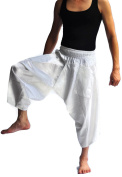 Siam Trendy Men's Japanese Style Pants One Size All White