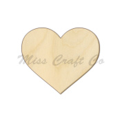 Heart Wood Shape Cutout, Wood Craft Shape, Unfinished Wood, DIY Project. All Sizes Available, Small to Big. Made in the USA. 20cm X 20cm