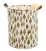 [Tree] Collapsible Cloth Laundry Basket Laundry Hamper Toy Storage Basket