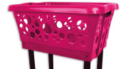 Gravidus Quality, Robust Laundry Basket with Folding Legs red