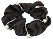 Horka Elastic Pearl Hair Bobble Satin Women Horse Riding Competition Accessories