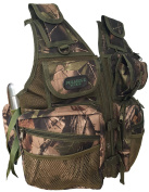 CKSN Polaris 2 Fishing Vest and Hunting Jacket Olive/Leaf Camouflage. Wildfowling, Wildlife Photography, Birding, Hiking, Orienteering - Carp Pike Fly Salmon Trout Barbel Chub