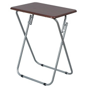 FOLDING TABLE WOOD SNACKS LAPTOP TV GAMES SIDE END COMPACT COFFEE DESK TRAY NEW