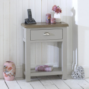Grey Stone Painted 1 Drawer Console Telephone Table