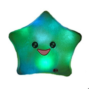 Zeuxs Smile Star Design Colour Changing LED Light Toss Thrown Pillow White