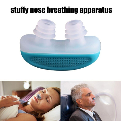 Leegoal(TM) Advanced Anti Snoring and Sleep Device Free Snore Stopper Magnetic Silicone Nose Clip Sleeping Device,Random Colour
