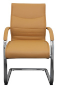 Amstyle Milano SPM1079 Conference Chair Leather Caramel