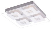 Designer Brushed Chrome LED Bathroom Light with Glass Insets by Haysom Interiors