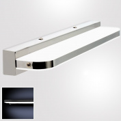 MUMENG 7W 420mm 770 LM LED Contemporary wall lights Bathroom wall cabinet mirror lamps stainless steel acrylic cold white AC90-265V