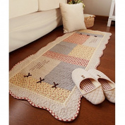 Ustide Modern Area Carpet Lovely Cotton Rug Washable Rug Non slip Floor Rug Rustic Area Rug for Living Room Bedroom 2x4