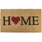 Novelty Non Slip Door Mat Tough Natural Coir PVC Back Welcome Home Large Indoor OutDoor Entrance Hard Wearing Doormat 45 x 75cm Dogs by Sabar