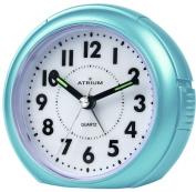 ATRIUM Alarm clock analogue light blue without ticking, with light and Snooze A240-15