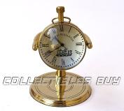 Vintage Unque Marine Ancient Railway Regulator Desk Clock Mini Brass Collection Gift Items