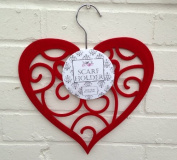 Scarf Holder - Red Heart Scarf Hanger (106-261) by Fish Around