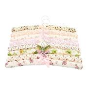 La Vogue 5PCS Flower Pattern Rural Style Bow Sponge Soft Coat Hangers 39*3cm Random Colour by La Vogue