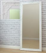 "ETON LARGE VINTAGE French FULL LENGTH WALL MIRROR White 163cm x 72cm / 64"" x28"""
