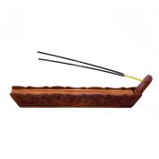 Stylla London Handmade Boat Shape Wooden Carved Incense Holder Box ! Incense holder ash catcher ! incense holder indian Unique Christmas Gift