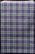 Table Runner (Large) in a Green and Purple Highland Plaid Design.
