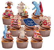 In The Night Garden Party Pack, 36 Cup Cake Toppers - Edible Stand Up Decorations