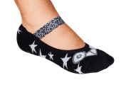 Lupo Women's Black And White Ankle Grip Sock