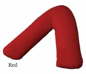 Polycotton Back & Neck Support V Shaped Orthopaedic/Pregnency/Nursing Pillow Case Colour Red by A & R
