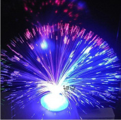 Colour Changing Fibre Optic Fountain - Night Light Calming Lamp