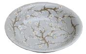 Grey and White Blossom Ceramic Bowl
