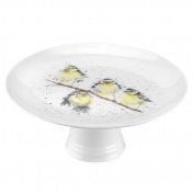 Wrendale by Royal Worcester Footed Cake Stand Birds, Multi-Colour