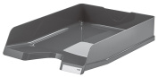 Han Viva, DIN A4/C4 Stackable Letter Tray with Clip Pack of 5 m dark grey
