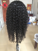 sunflowerhair 10a brazilian human hair kinky curly glueless lace front wigs  .   150density