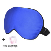 DOMIRE Authentic Natural Silk Mask With Free Ear Plugs Super Smooth & Comfortable Sleep Mask Let Your Eye Deep Relax & Improve Your Sleep Quality
