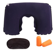 Helen Ou @ Flocking travel portable set with neck protector eye mask and earplug 3 PCS