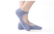 Gazelle Trading Yoga-Pilates Socks Massage Fitness Non-Slip Ankle Socks One Size Various colours