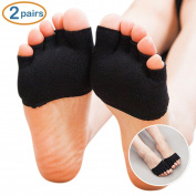 SUPOW® Sling-back Socks,Contton Non-Slip Toeless Socks No-Show Half Socks Barre Pilates Yoga Half Palm Socks Ballet Grip Sock for Summer