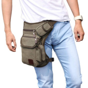 AutumnFall Multifunction Outdoor Sport Leg Bag Canvas Waist Bag Money Belt Fanny Pack